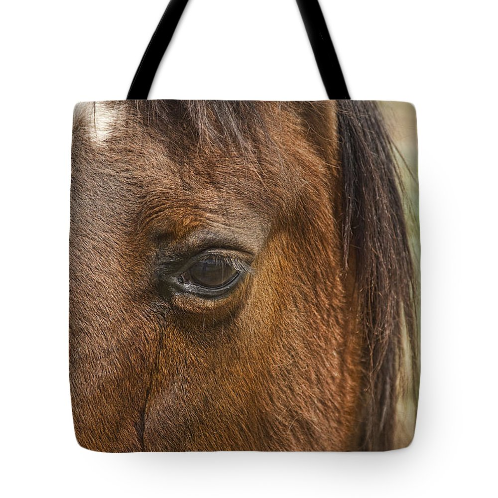 Horse Tote Bag featuring the photograph Horse Tear by James BO Insogna