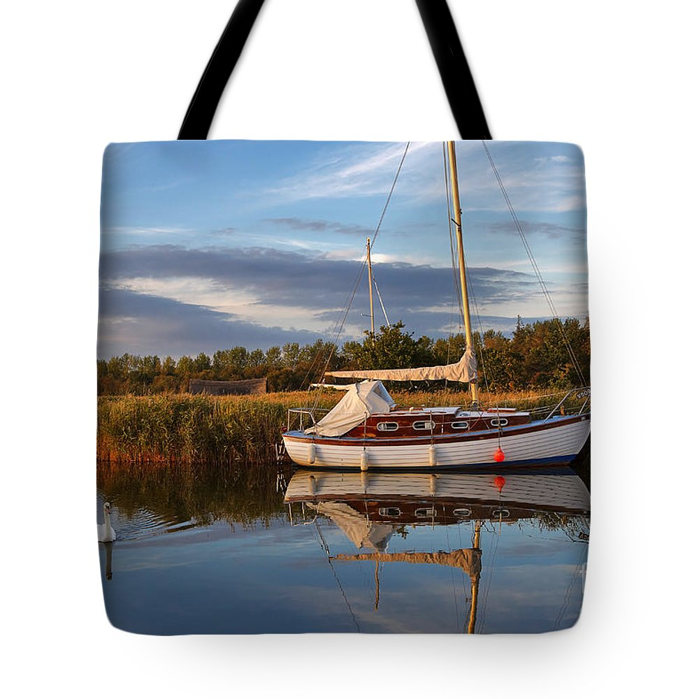 Travel Tote Bag featuring the photograph Horsey Mere In Evening Light by Louise Heusinkveld