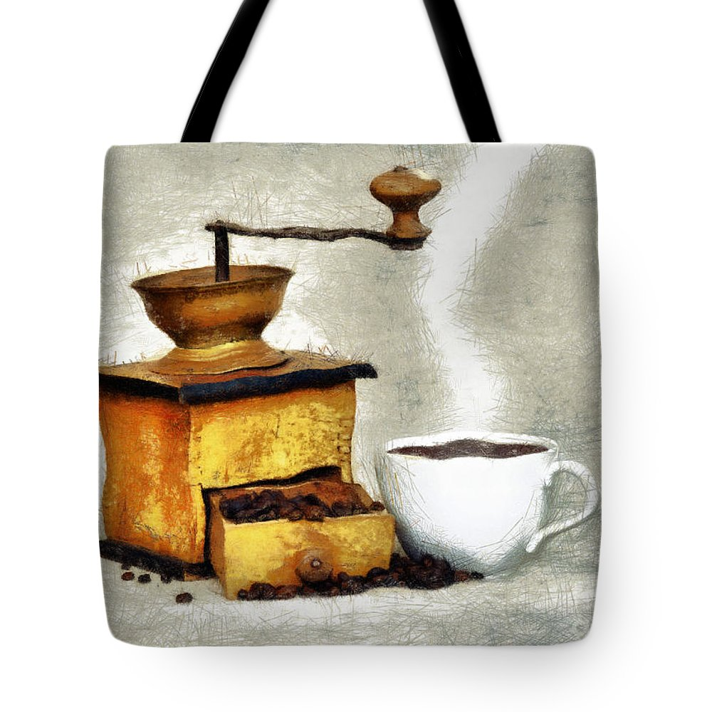 Altered Tote Bag featuring the photograph Hot Black Coffee by Michal Boubin