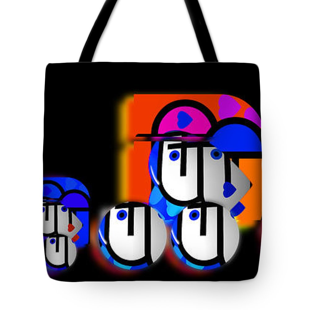 Convoy Tote Bag featuring the painting Hot Convoy by Charles Stuart