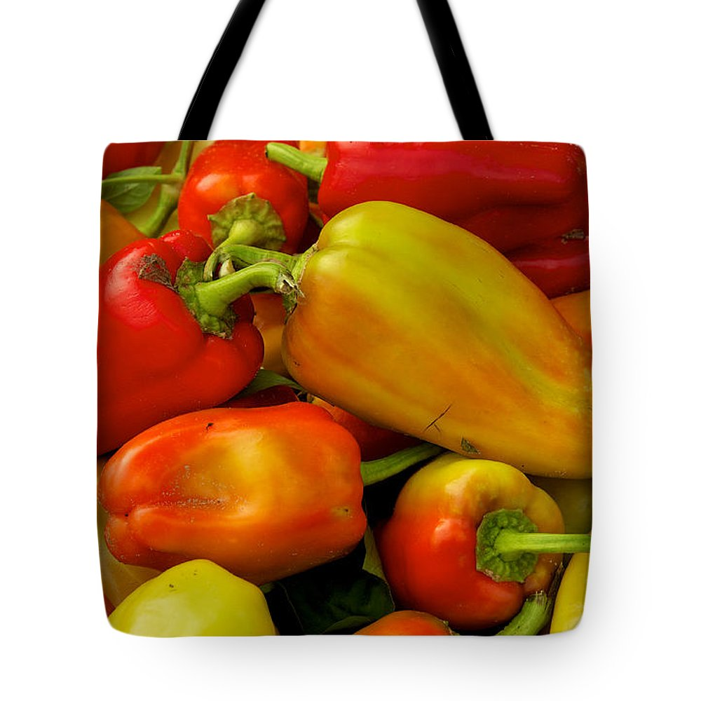 Agriculture Tote Bag featuring the photograph Hot Peppers by David Kay