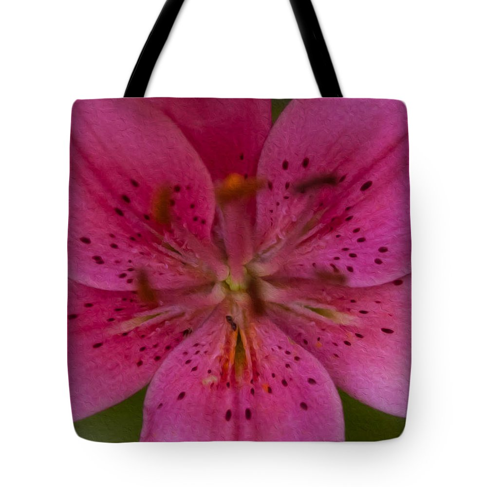 North Cascades Tote Bag featuring the painting Hot Pink Close Up by Omaste Witkowski