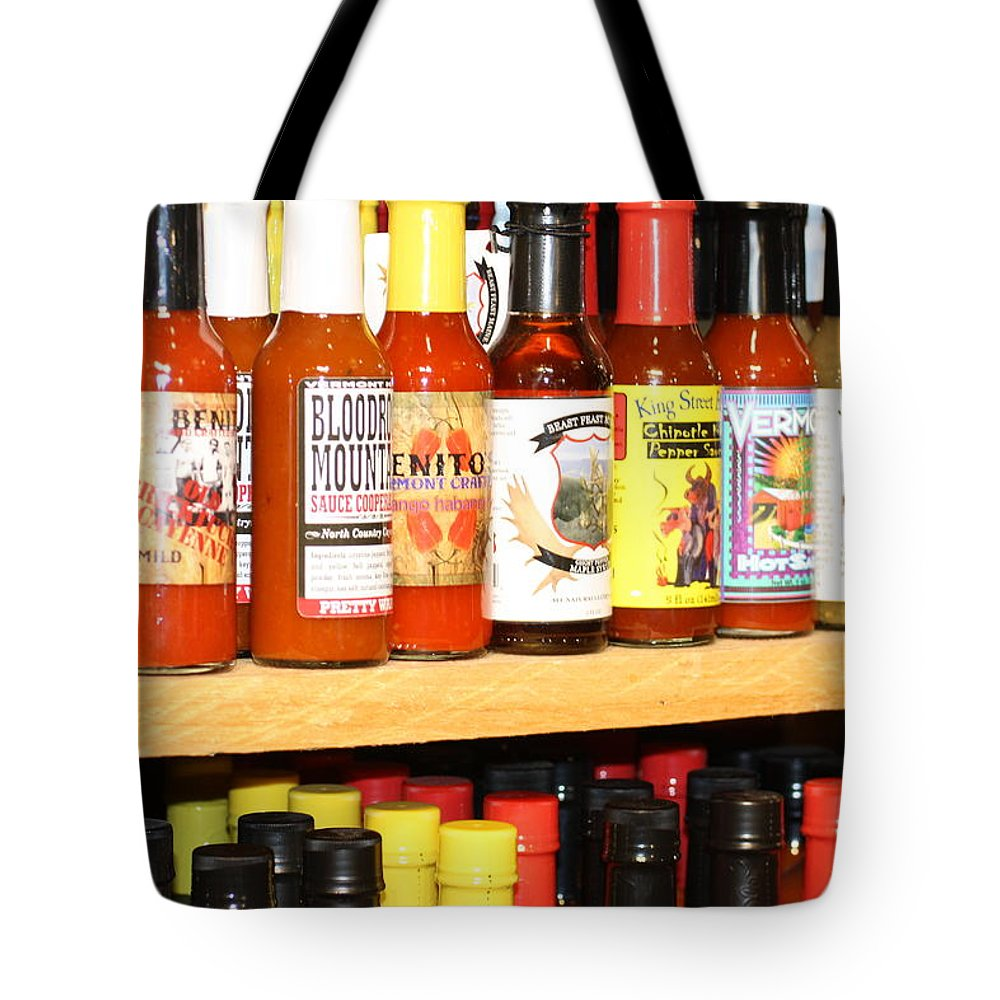 Hot Tote Bag featuring the photograph Hot Sauce by Chuck Hicks