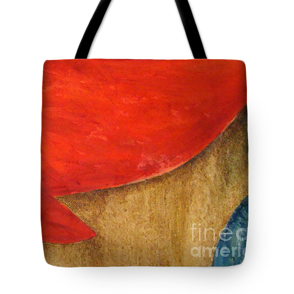 Abstract Tote Bag featuring the painting Hot Spot by Silvana Abel