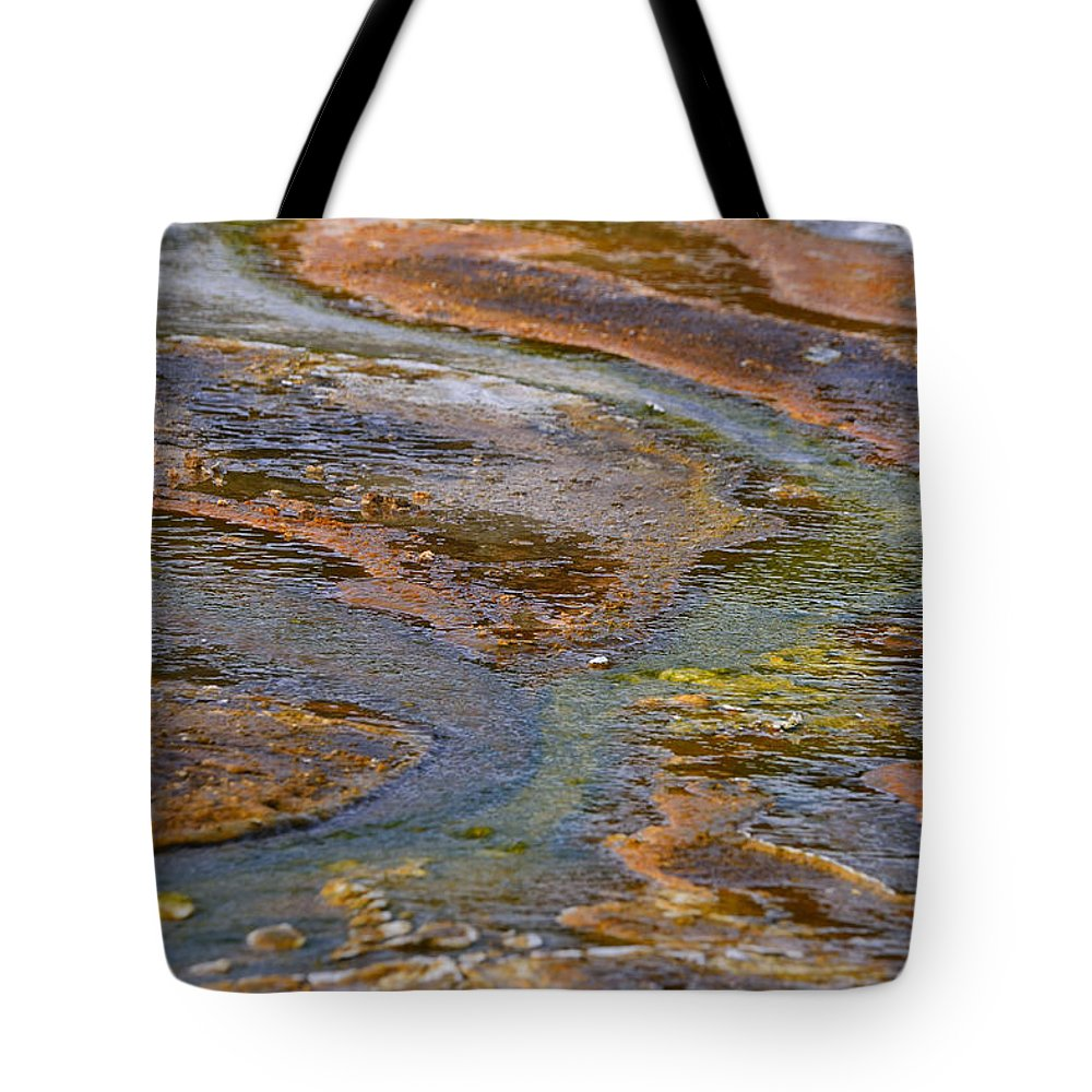 Norris Geyser Basin Tote Bag featuring the photograph Hot Spring Detail by Ovidiu Moise