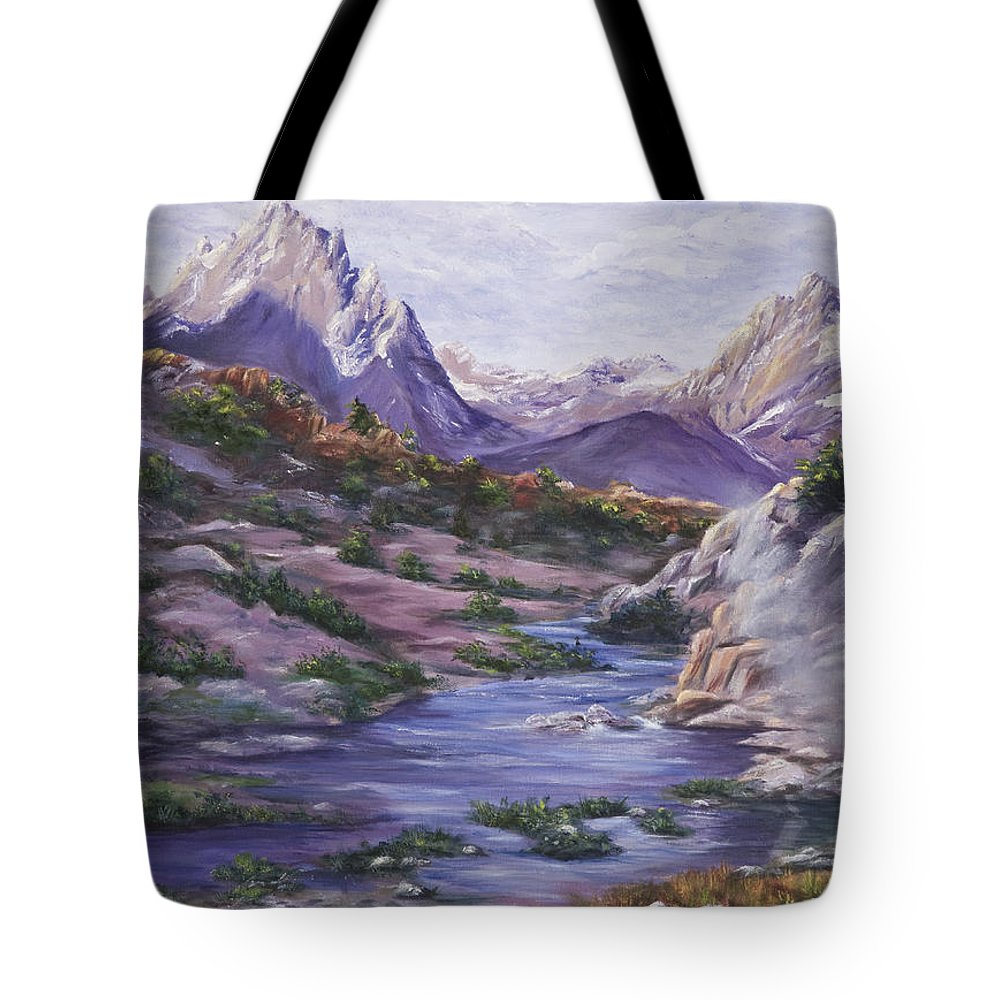 Landscape Tote Bag featuring the painting Hot Springs by Darice Machel McGuire