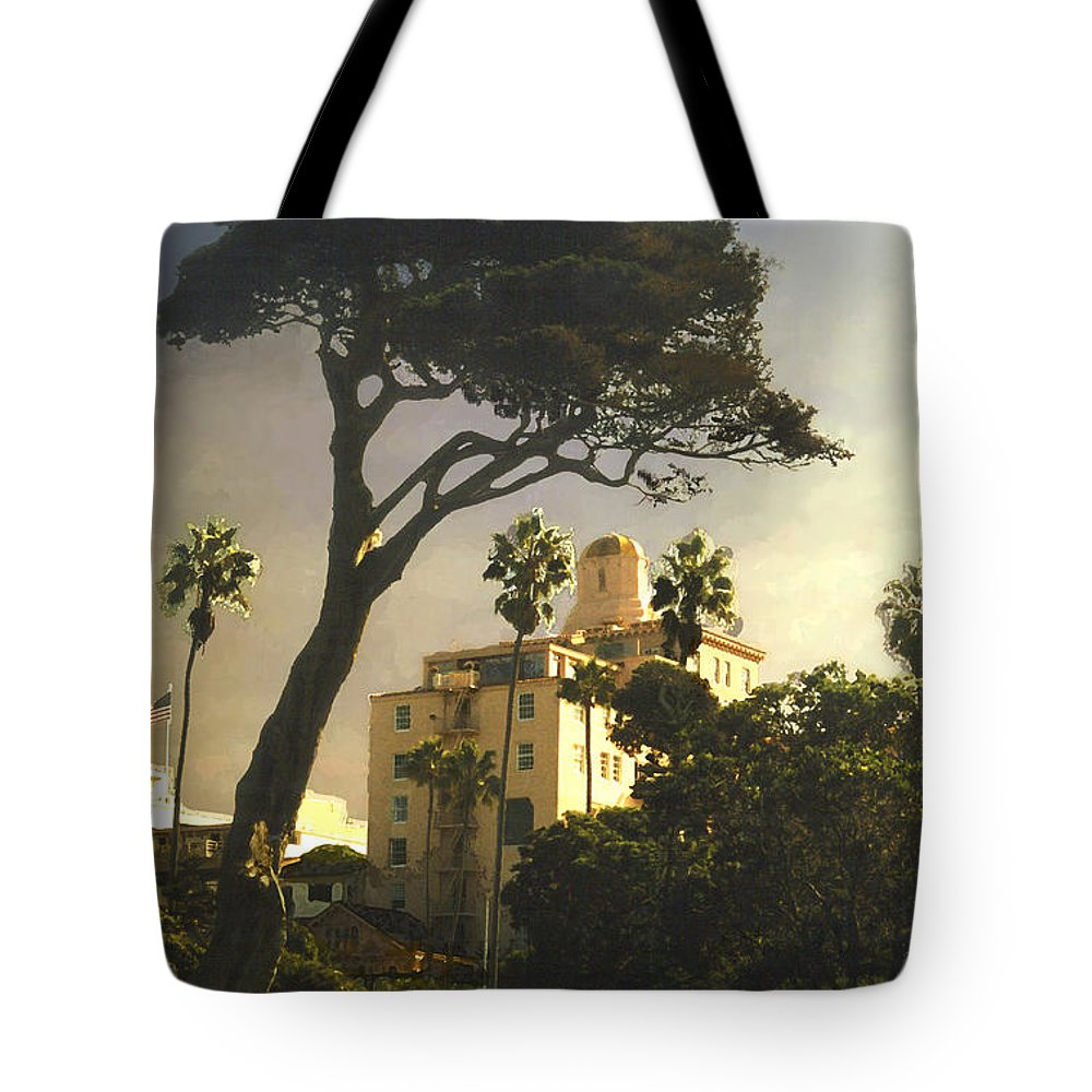 Landscape Tote Bag featuring the photograph Hotel California- La Jolla by Steve Karol