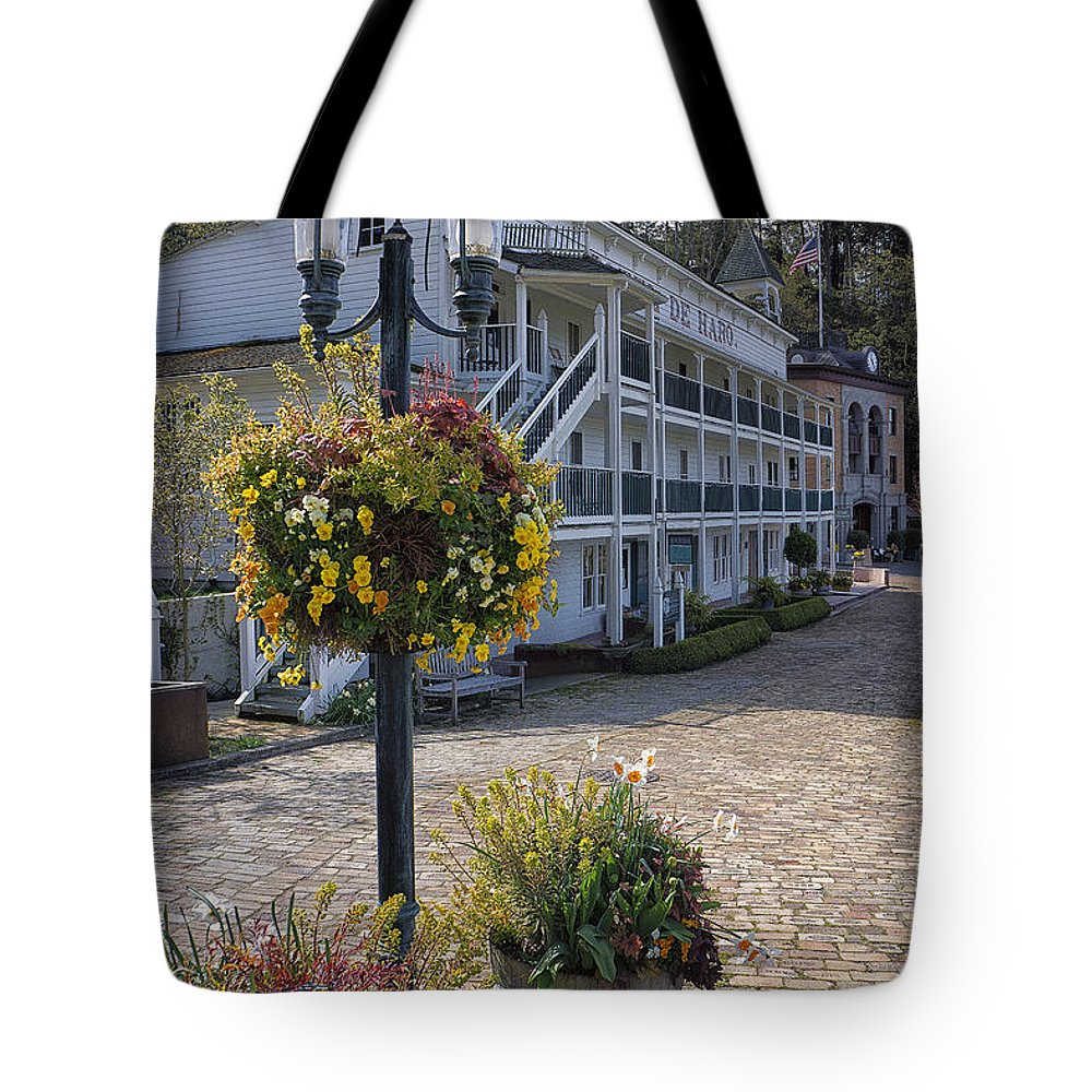 Hotel Tote Bag featuring the photograph Hotel De Haro by Bob Stevens
