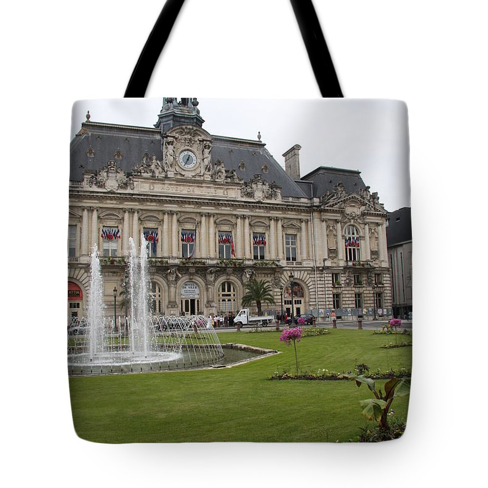 City Hall Tote Bag featuring the photograph Hotel De Ville - Tours by Christiane Schulze Art And Photography