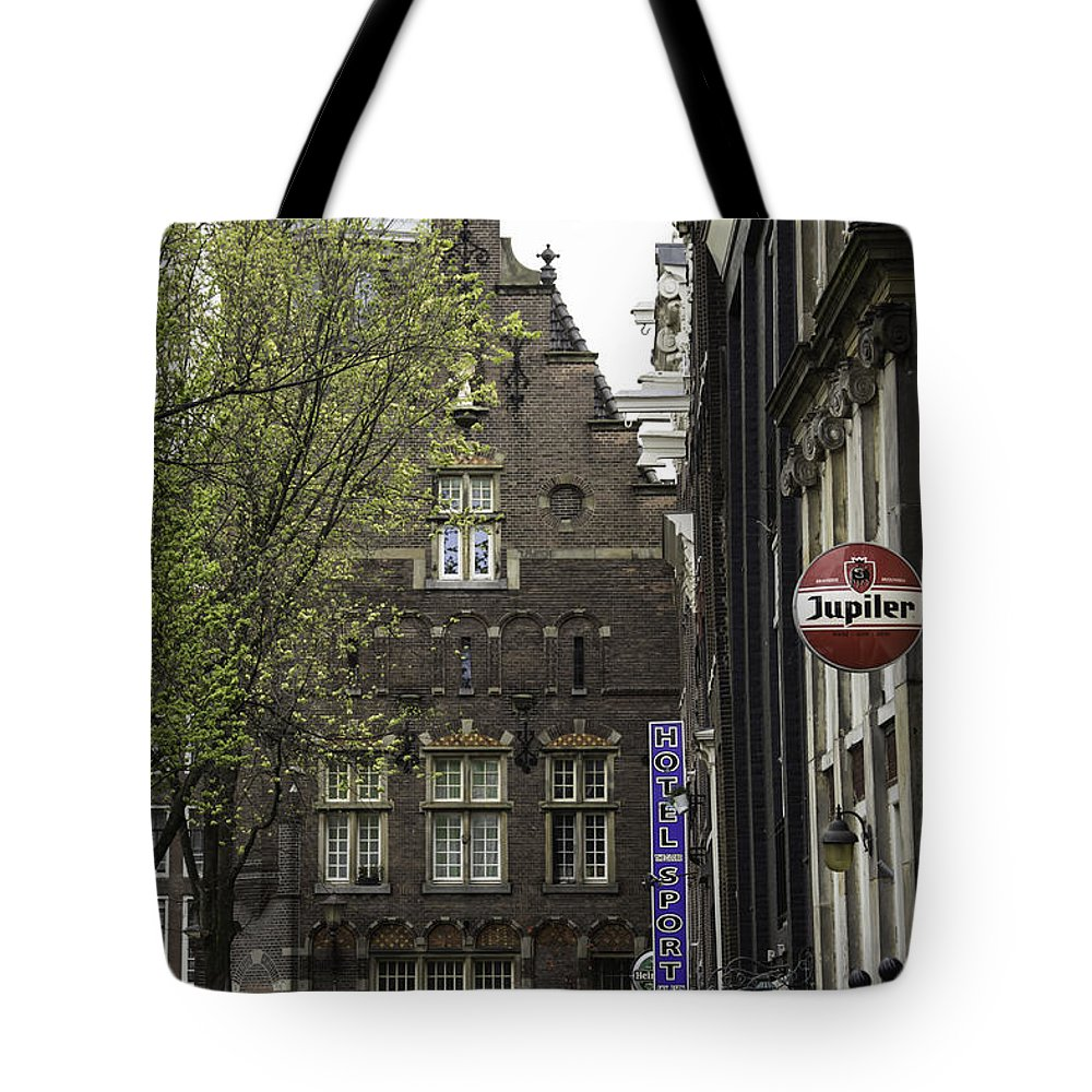 2014 Tote Bag featuring the photograph Hotel The Globe Amsterdam by Teresa Mucha