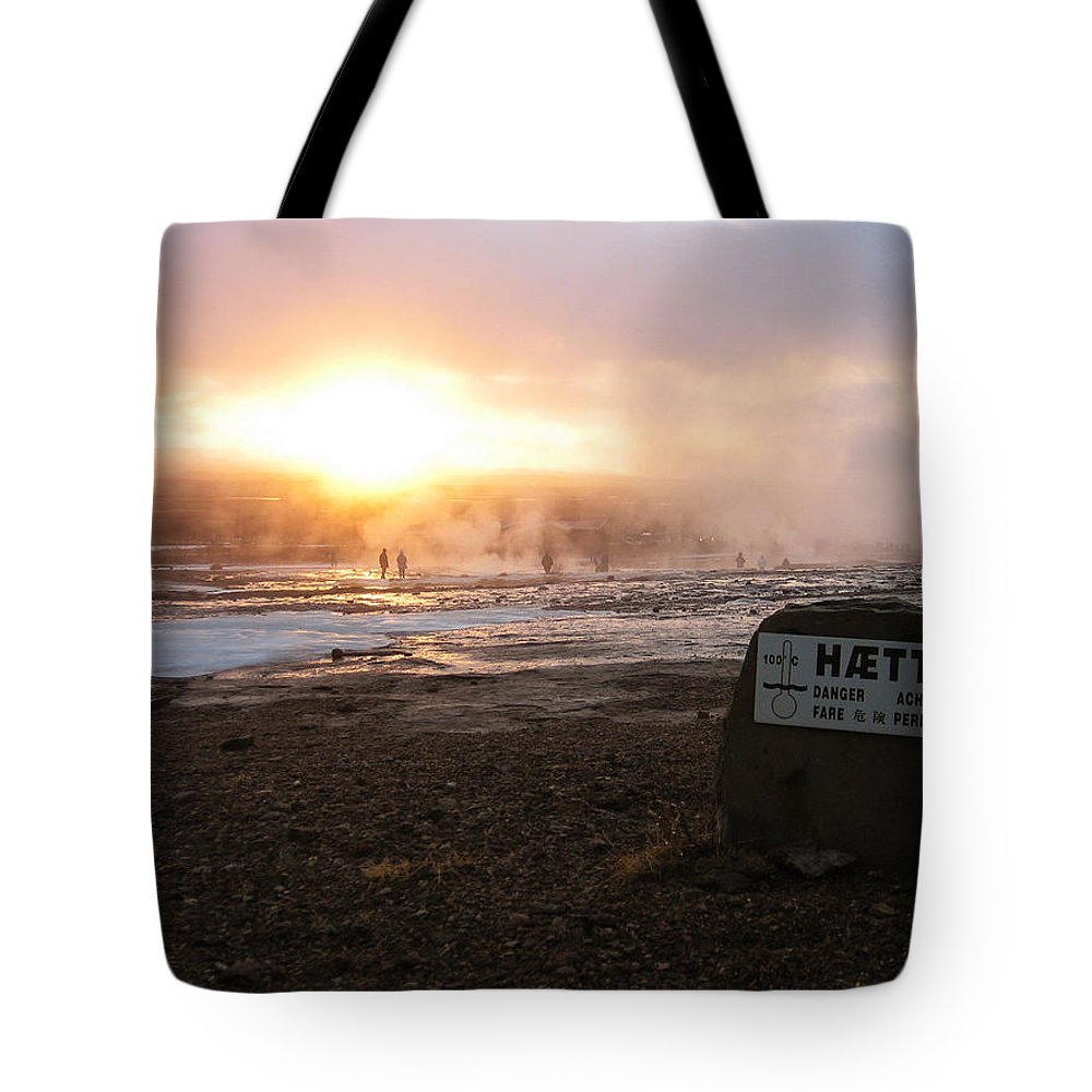Sun Tote Bag featuring the photograph Hotpool by Oliver Johnston