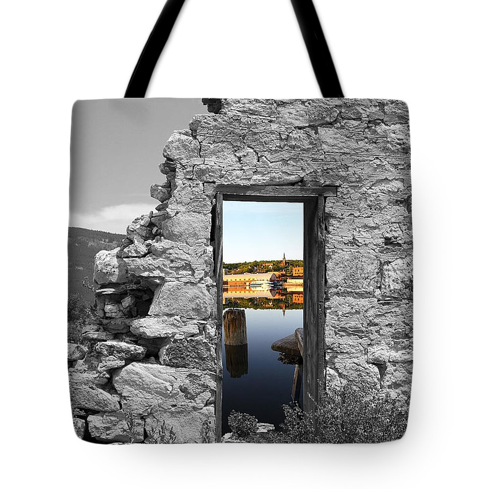 Montages Tote Bag featuring the photograph Houghton Through The Magic Door by Greg Wells