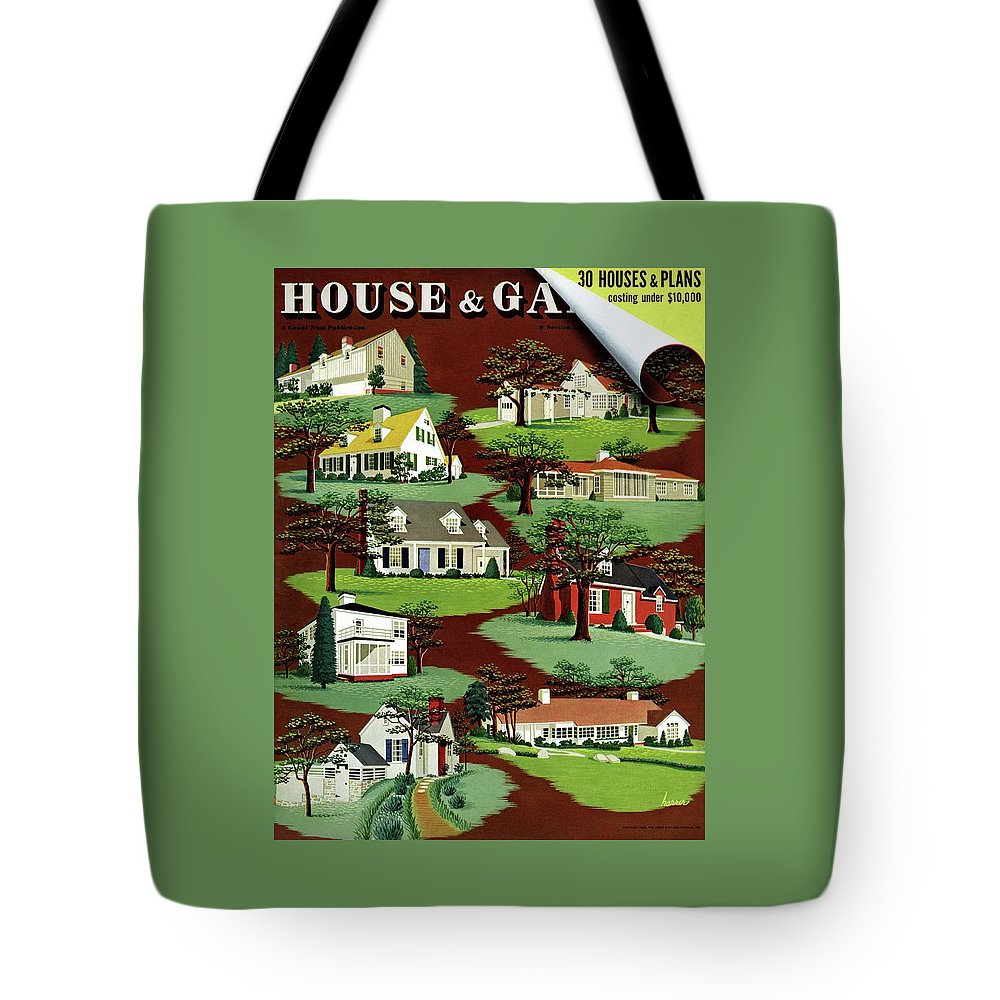 House & Garden Tote Bag featuring the photograph House & Garden Cover Illustration Of 9 Houses by Robert Harrer