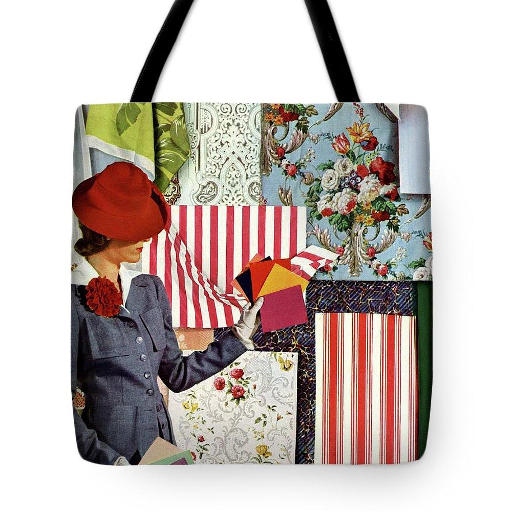 House & Garden Tote Bag featuring the photograph House & Garden Cover Illustration Of A Woman by Joseph B. Platt