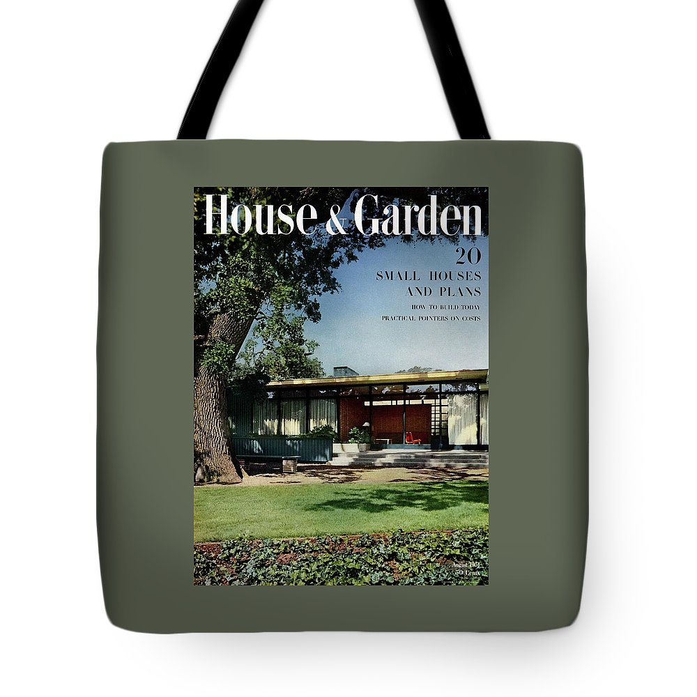 House & Garden Tote Bag featuring the photograph House & Garden Cover Of The Kurt Appert House by Ernest Braun