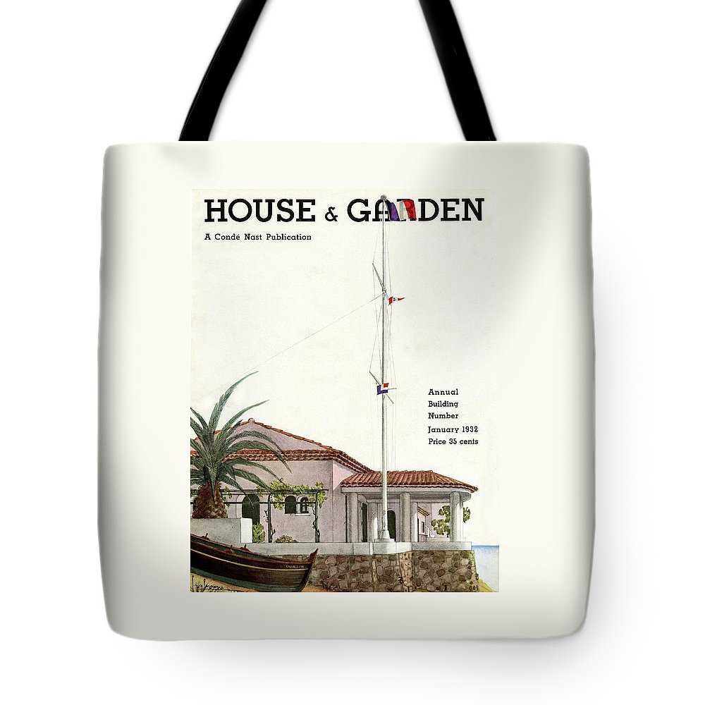 House And Garden Tote Bag featuring the photograph House And Garden Annual Building Number Cover by Georges Lepape