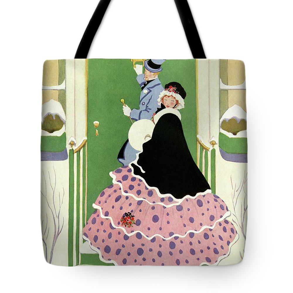 House And Garden Tote Bag featuring the photograph House And Garden Annual Building Number Cover by L. M. Hubert