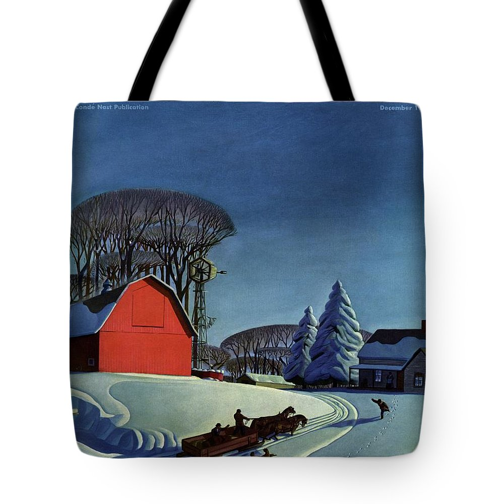 House And Garden Tote Bag featuring the photograph House And Garden Christmas Decoration Cover by Dale Nichols