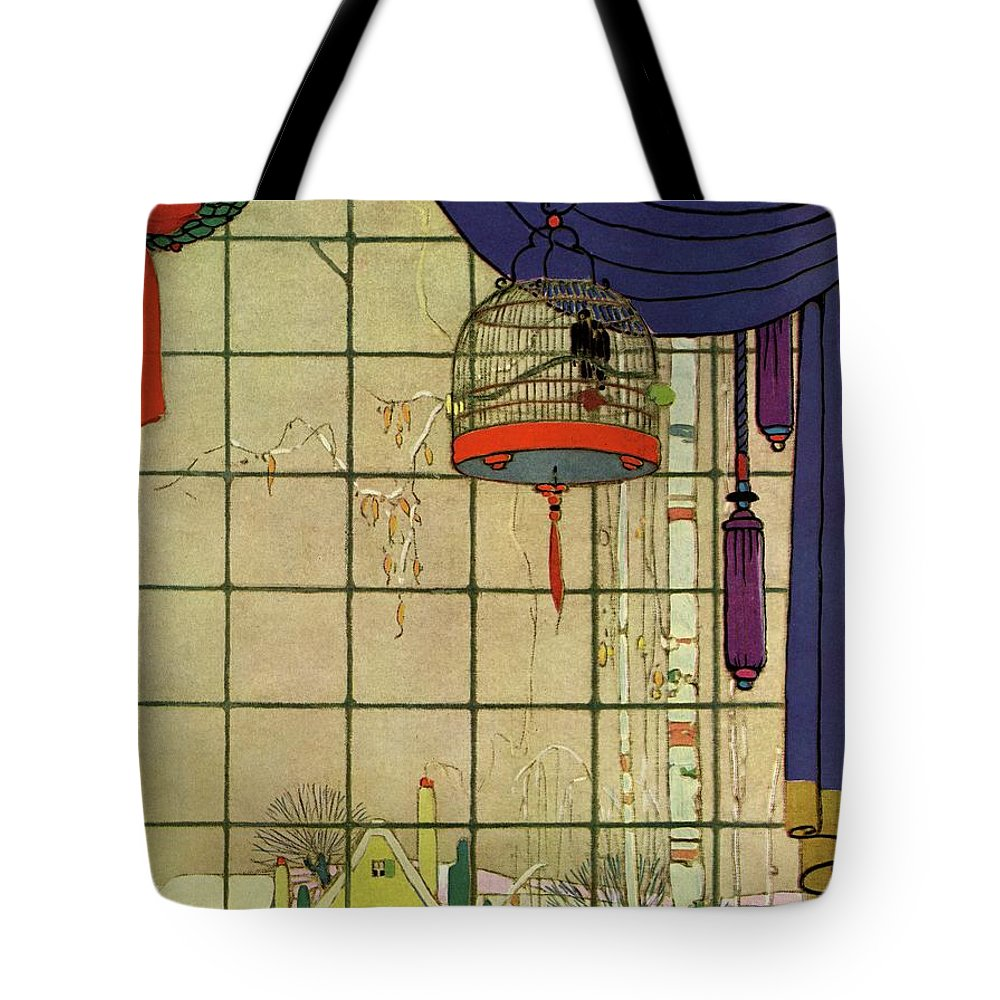 House And Garden Tote Bag featuring the photograph House And Garden Christmas House Number Cover by H. George Brandt