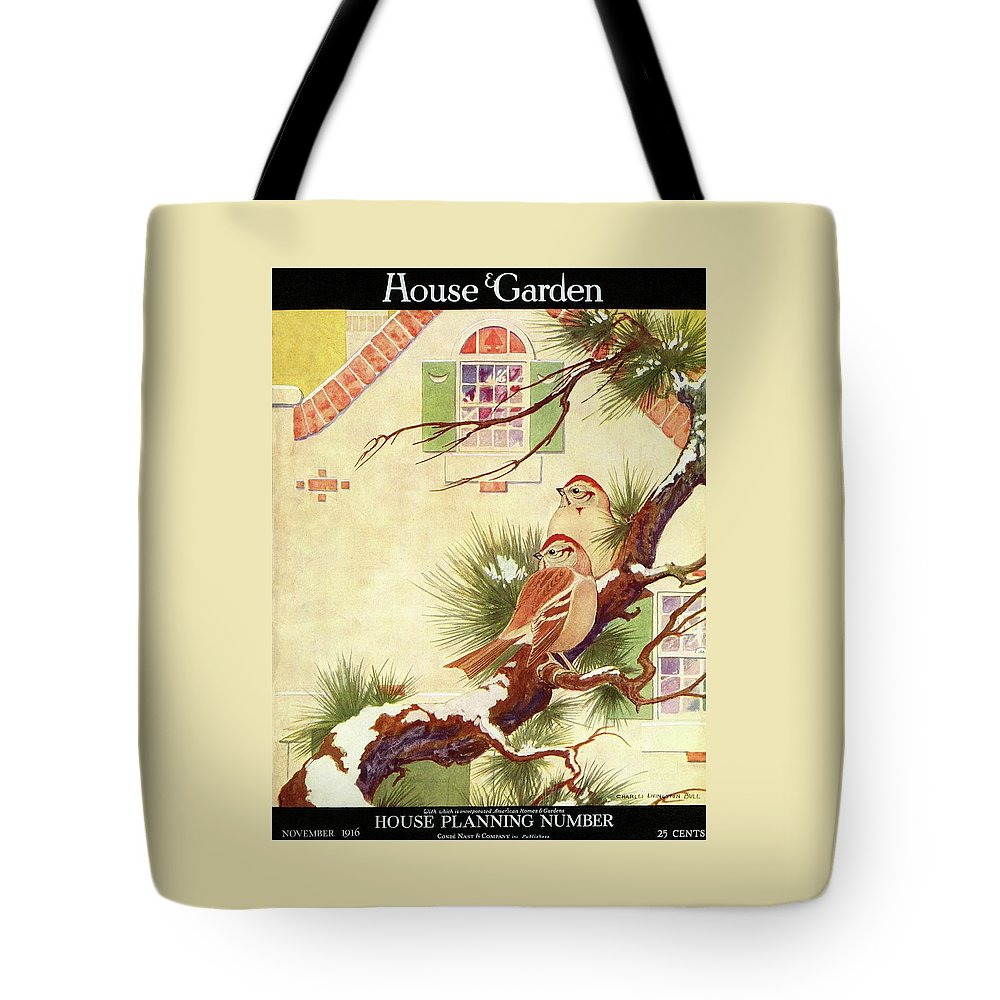 Illustration Tote Bag featuring the photograph House And Garden Cover by Charles Livingston Bull