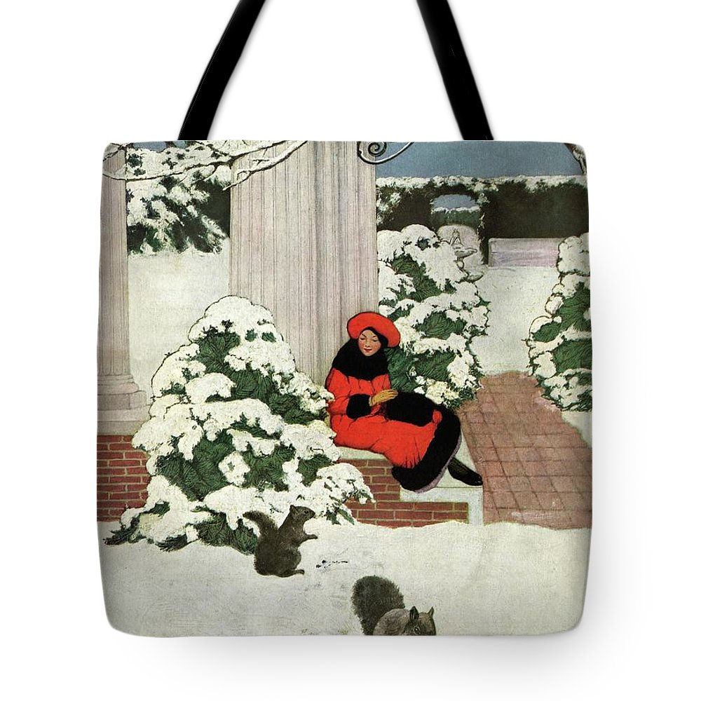 House And Garden Tote Bag featuring the photograph House And Garden Cover by Ethel Franklin Betts Baines