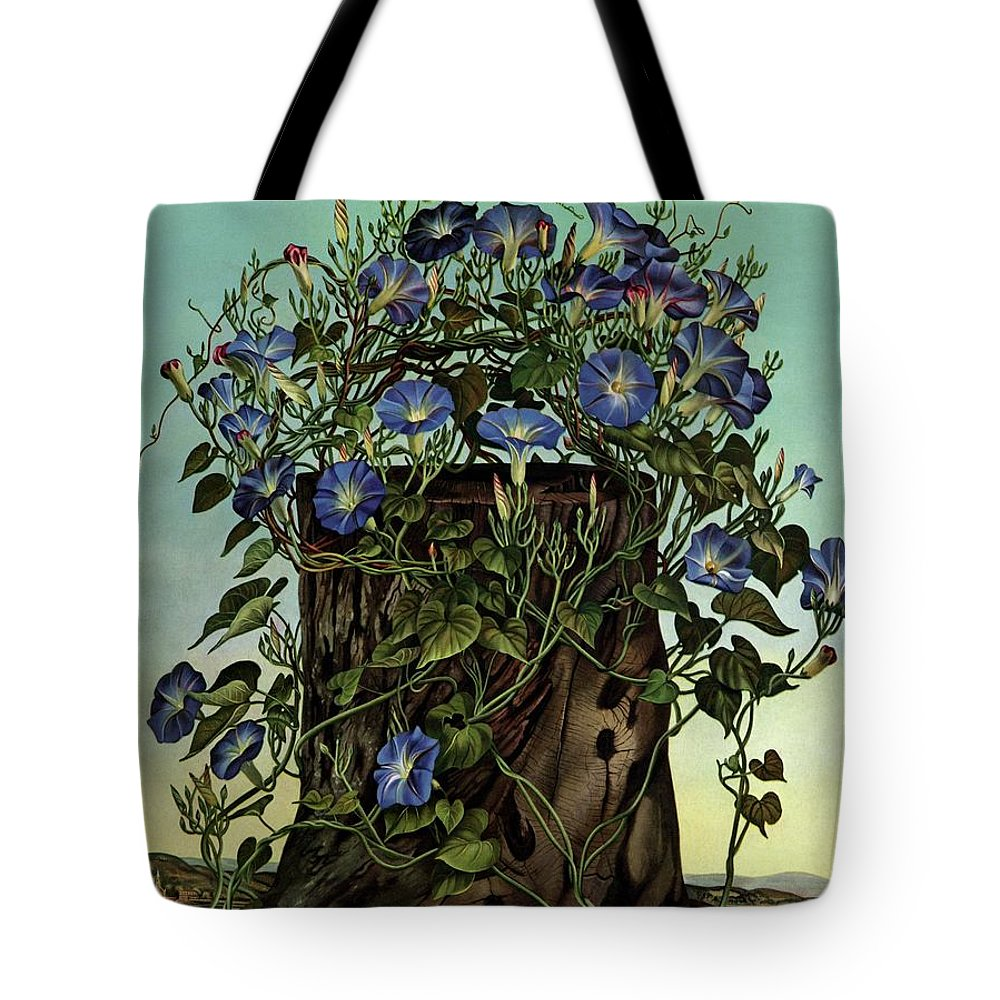 House And Garden Tote Bag Featuring The Photograph House And Garden Cover  Featuring Flowers Growing By