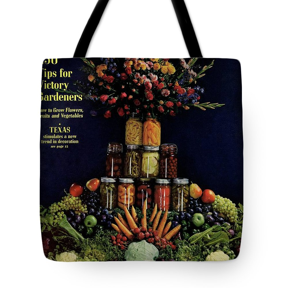House And Garden Tote Bag featuring the photograph House And Garden Cover Featuring Fruit by Fredrich Baker