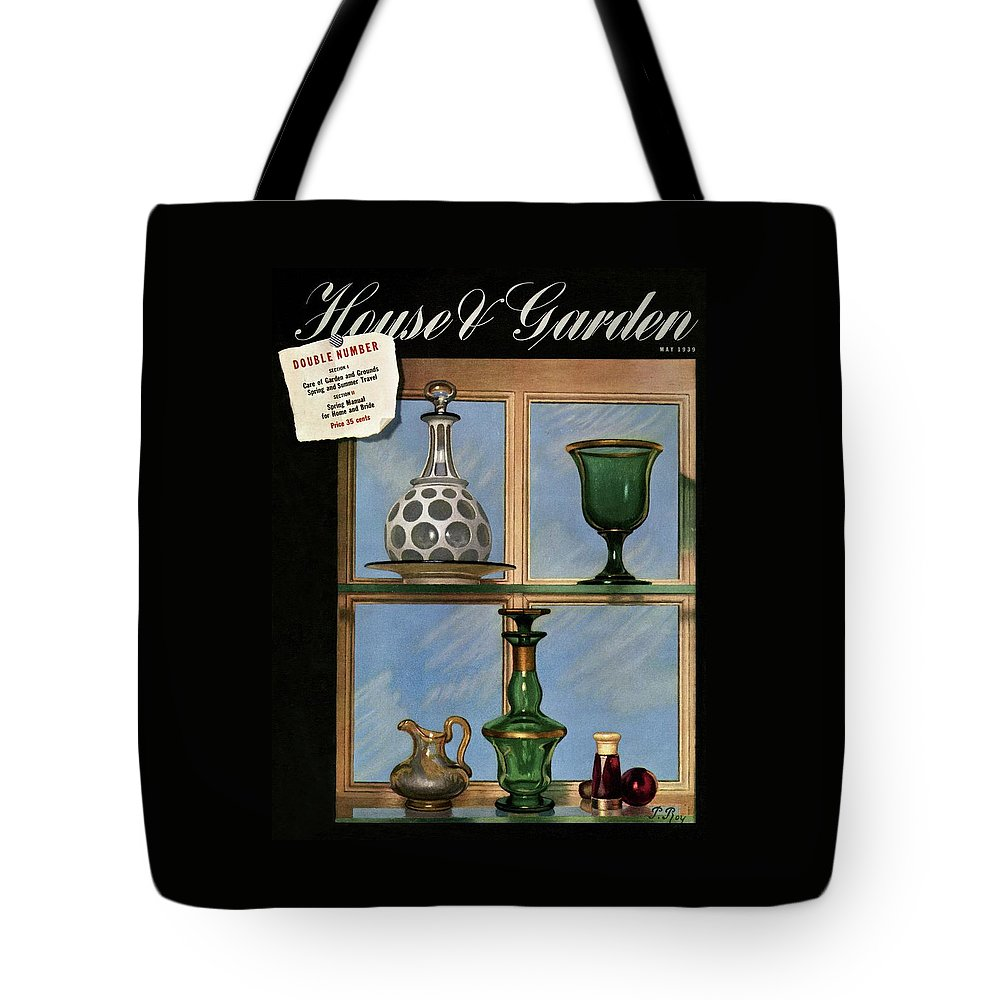 House And Garden Tote Bag featuring the photograph House And Garden Cover by Pierre Roy