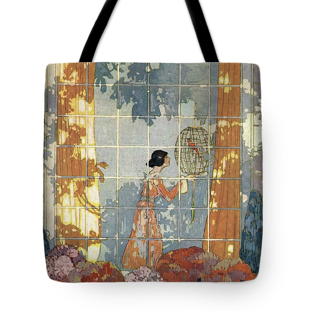 House And Garden Tote Bag featuring the photograph House And Garden Cover by Porter Woodruff