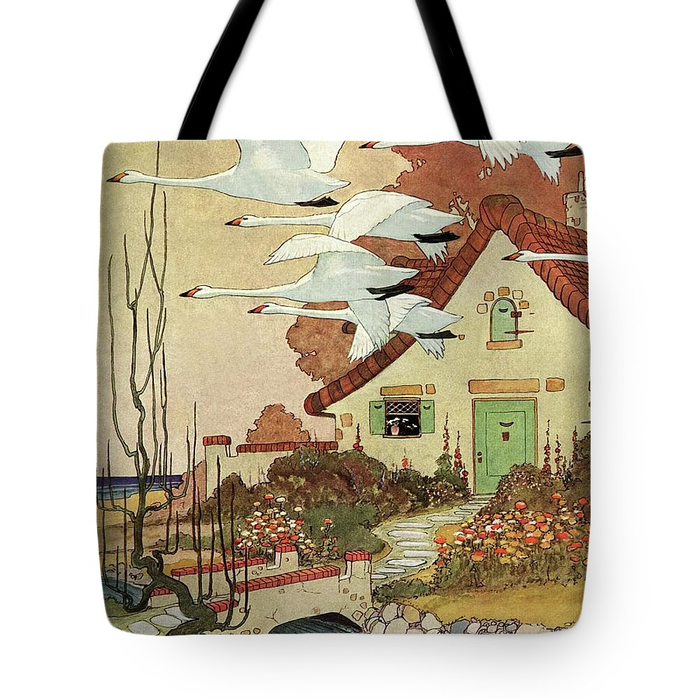House And Garden Tote Bag featuring the photograph House And Garden Fall Planting Guide by Charles Livingston Bull
