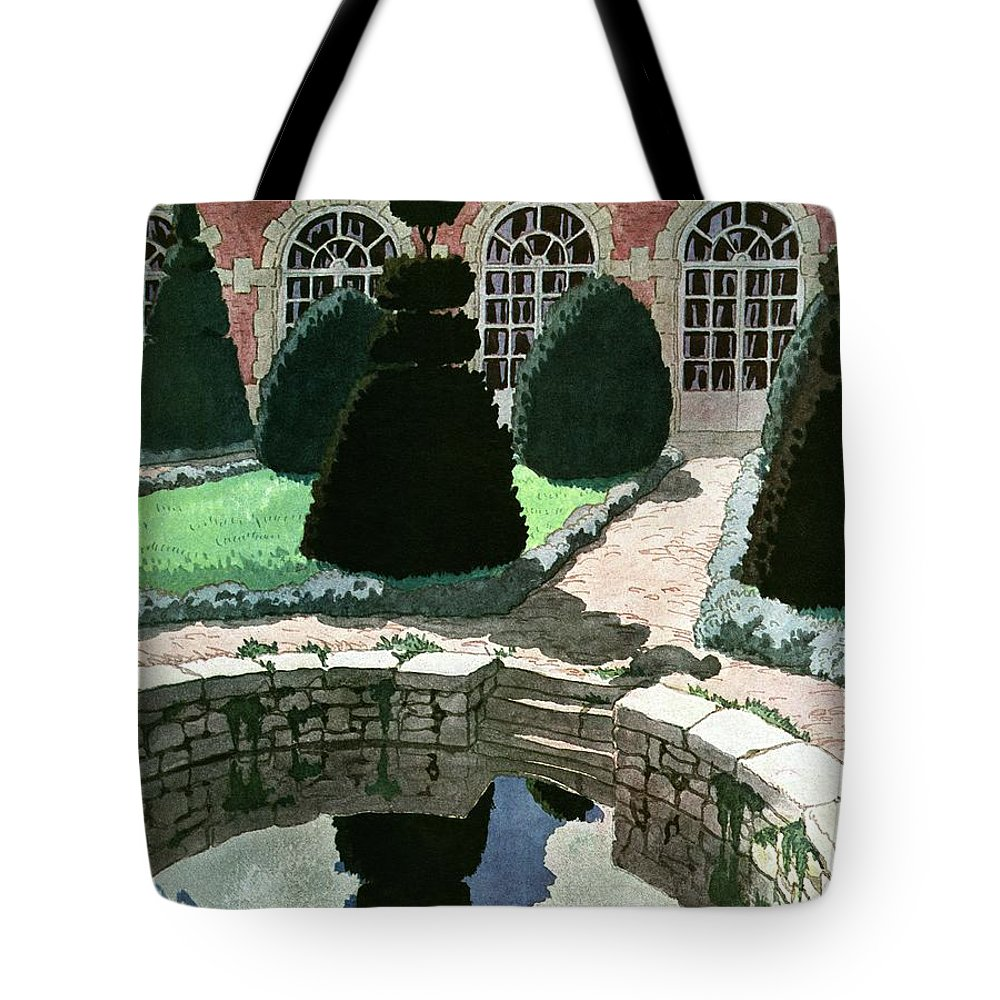 House And Garden Tote Bag featuring the photograph House And Garden Fall Planting Number Cover by Pierre Brissaud