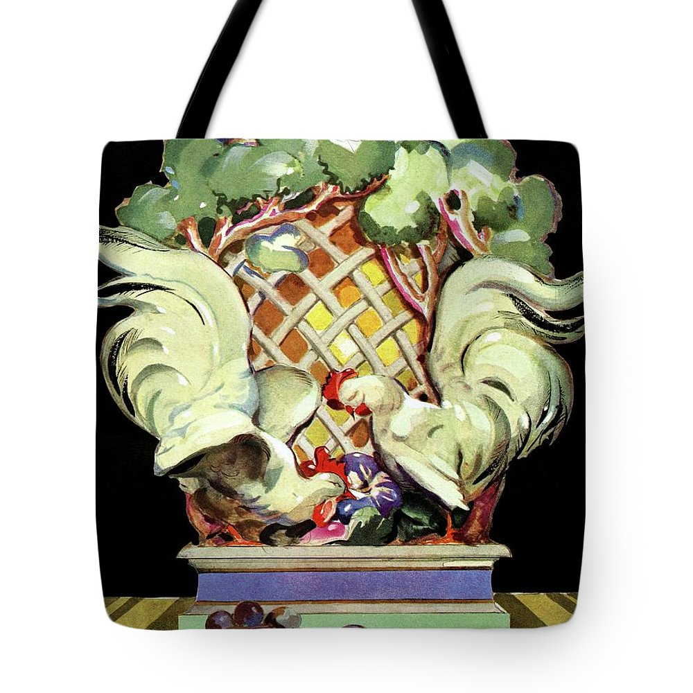 House And Garden Tote Bag featuring the photograph House And Garden Furniture Number by Bradley Walker Tomlin