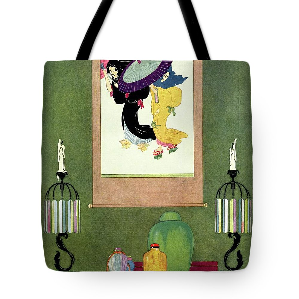House And Garden Tote Bag featuring the photograph House And Garden Furniture Number by Harry Richardson