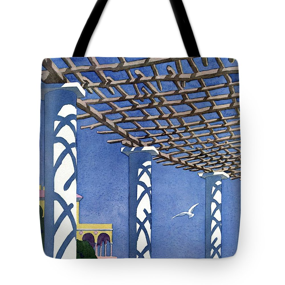 House And Garden Tote Bag featuring the photograph House And Garden Garden Furnishing Number Cover by Andre E. Marty