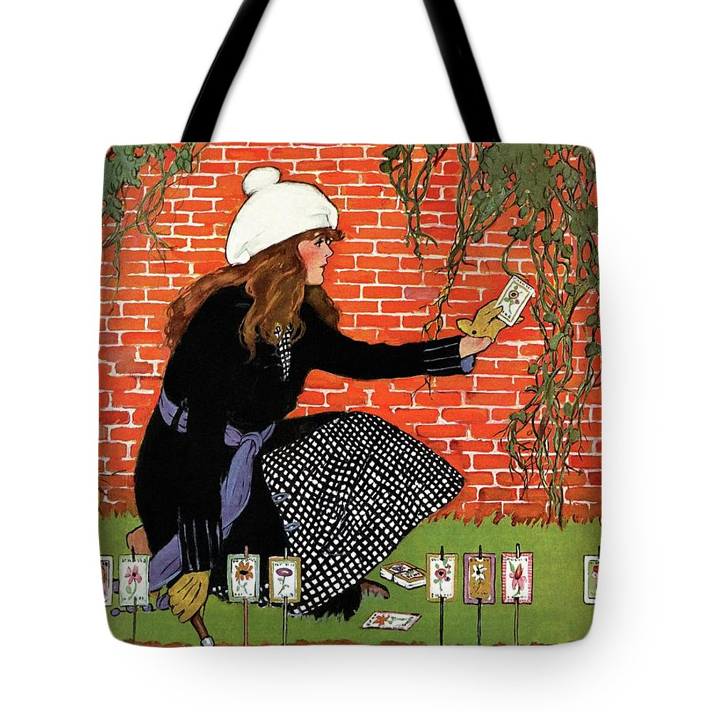 House And Garden Tote Bag featuring the photograph House And Garden Garden Planting Number Cover by Ruth Easton