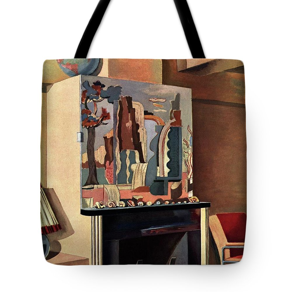 House And Garden Tote Bag featuring the photograph House And Garden Interior Decoration Number Cover by Louis Bouche