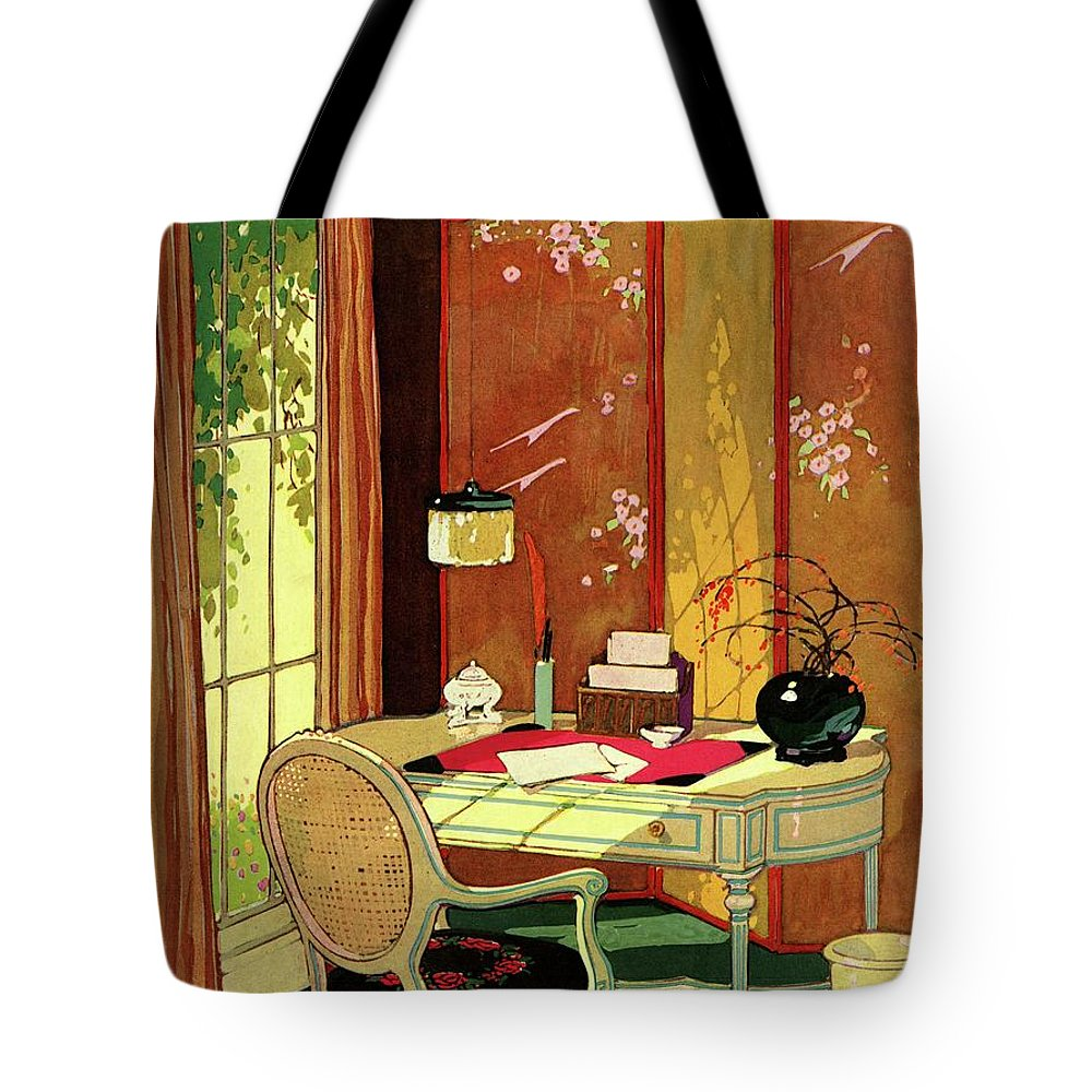House And Garden Tote Bag featuring the photograph House And Garden Small House Number by Clayton Knight