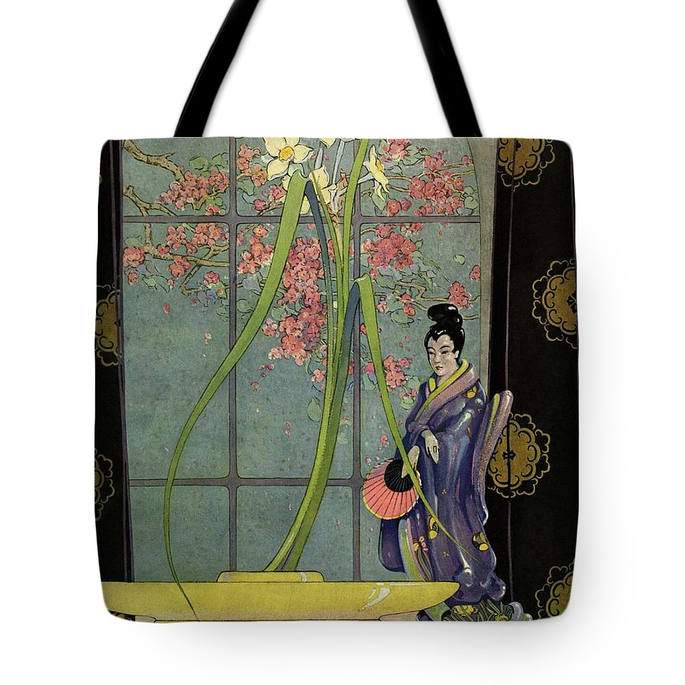 House And Garden Tote Bag featuring the photograph House And Garden Spring Furnishing Number Cover by L. V. Carroll