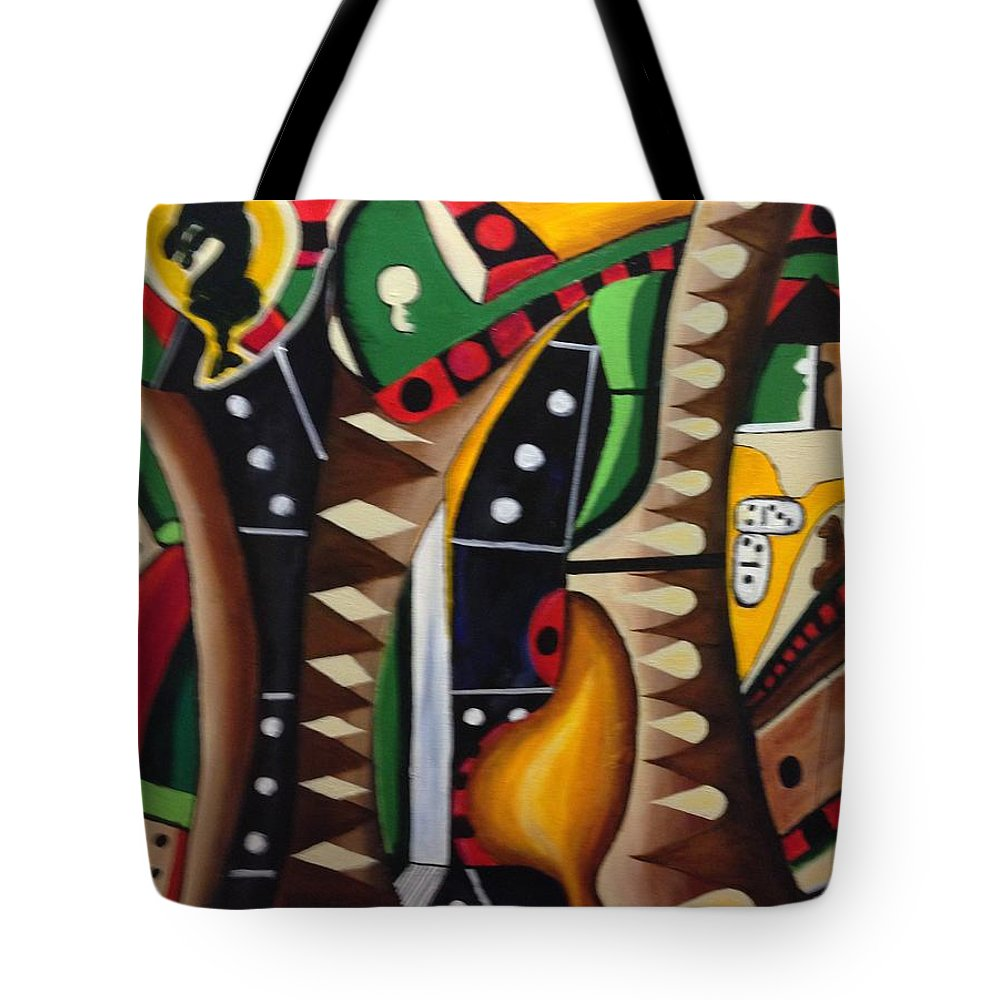 Games Tote Bag featuring the painting House Games II by Anthony Hurt