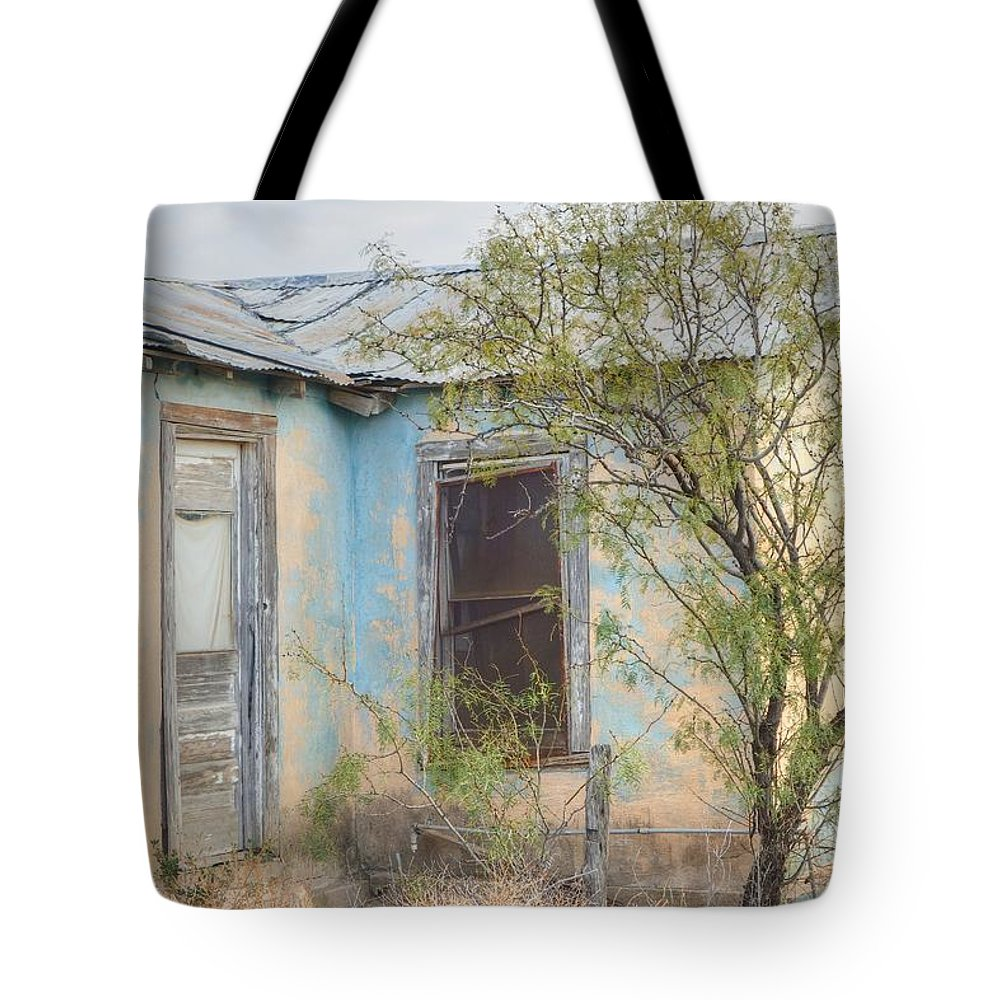 Old House Tote Bag featuring the photograph House In Ft. Stockton IIi Muted by Lanita Williams