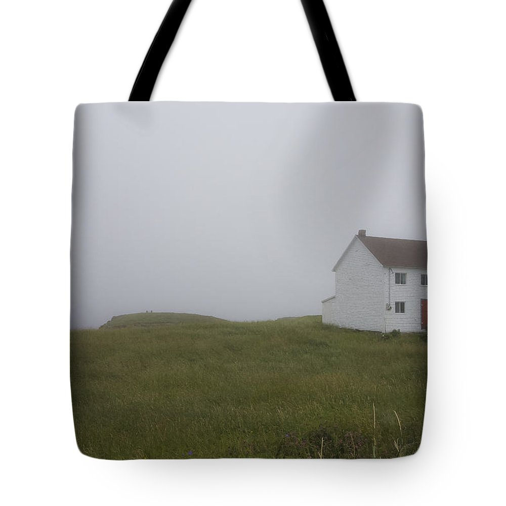 Newfoundland Tote Bag featuring the photograph House In The Fog by David Stone