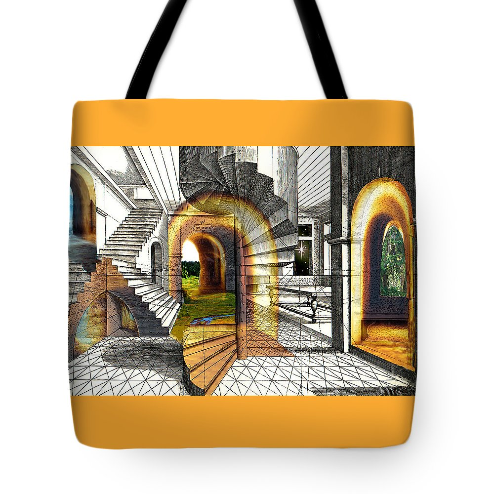 House Tote Bag featuring the digital art House Of Dreams by Lisa Yount