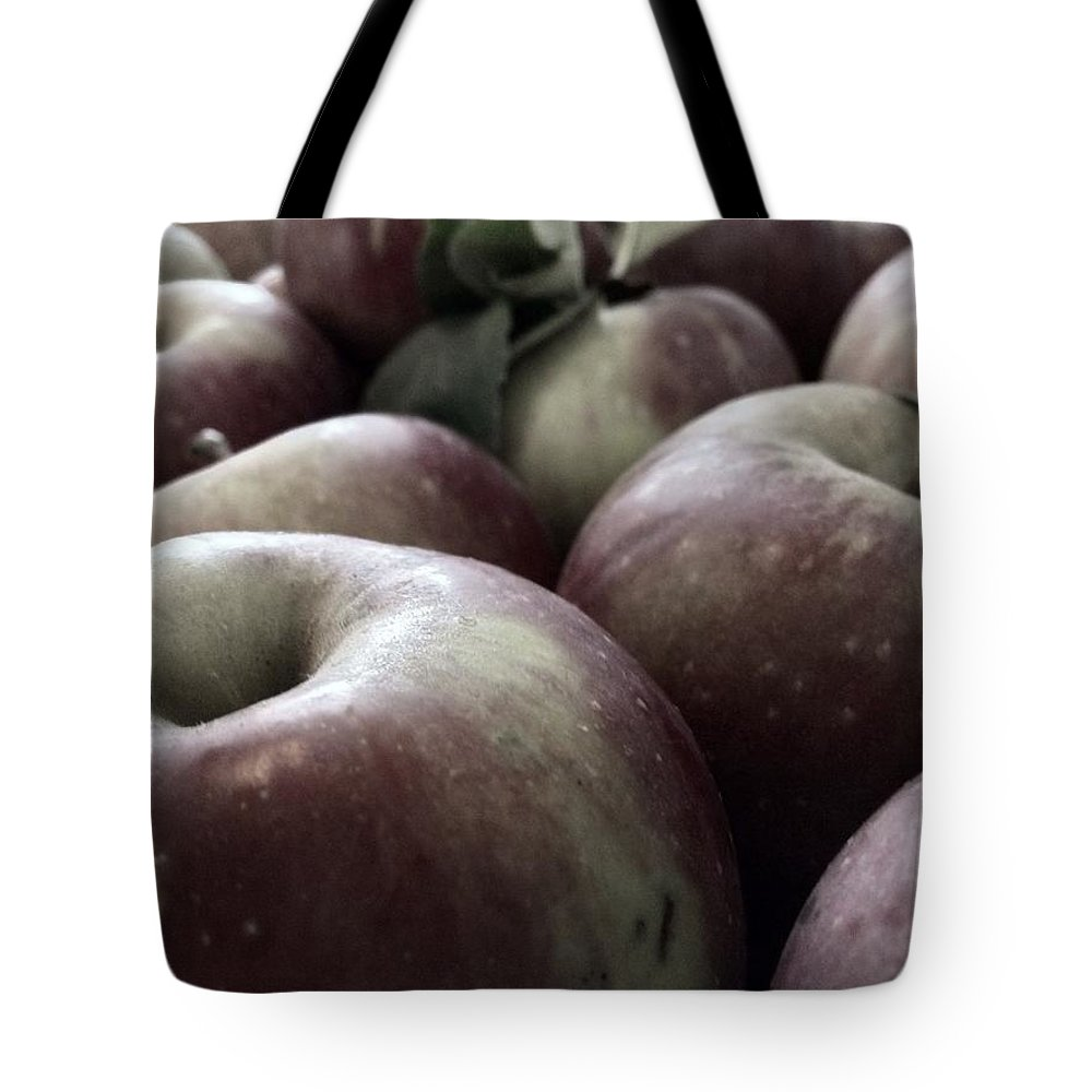 Apple Tote Bag featuring the photograph How Do You Like Them Apples by Photographic Arts And Design Studio