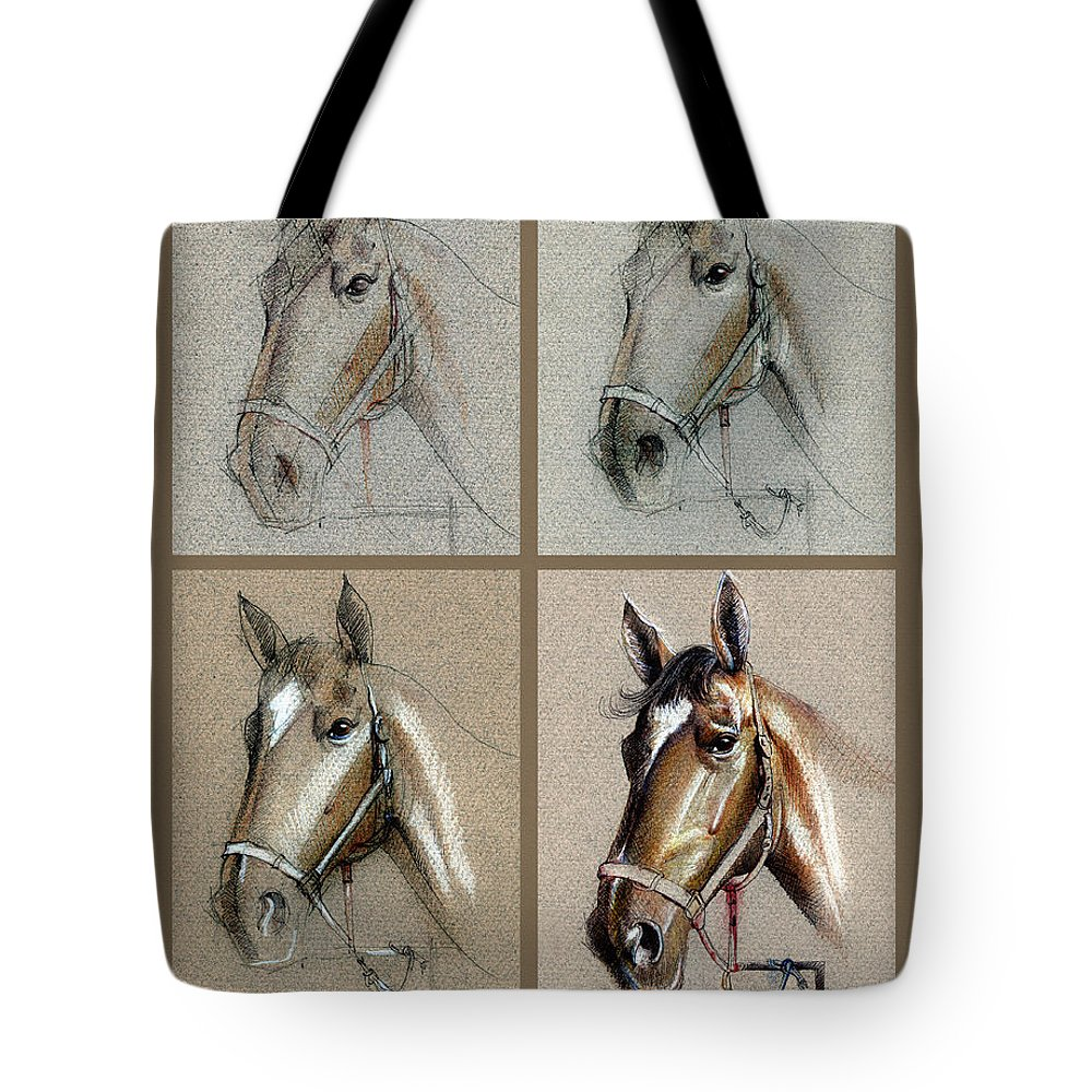 How To Draw A Horse Portrait Tote Bag