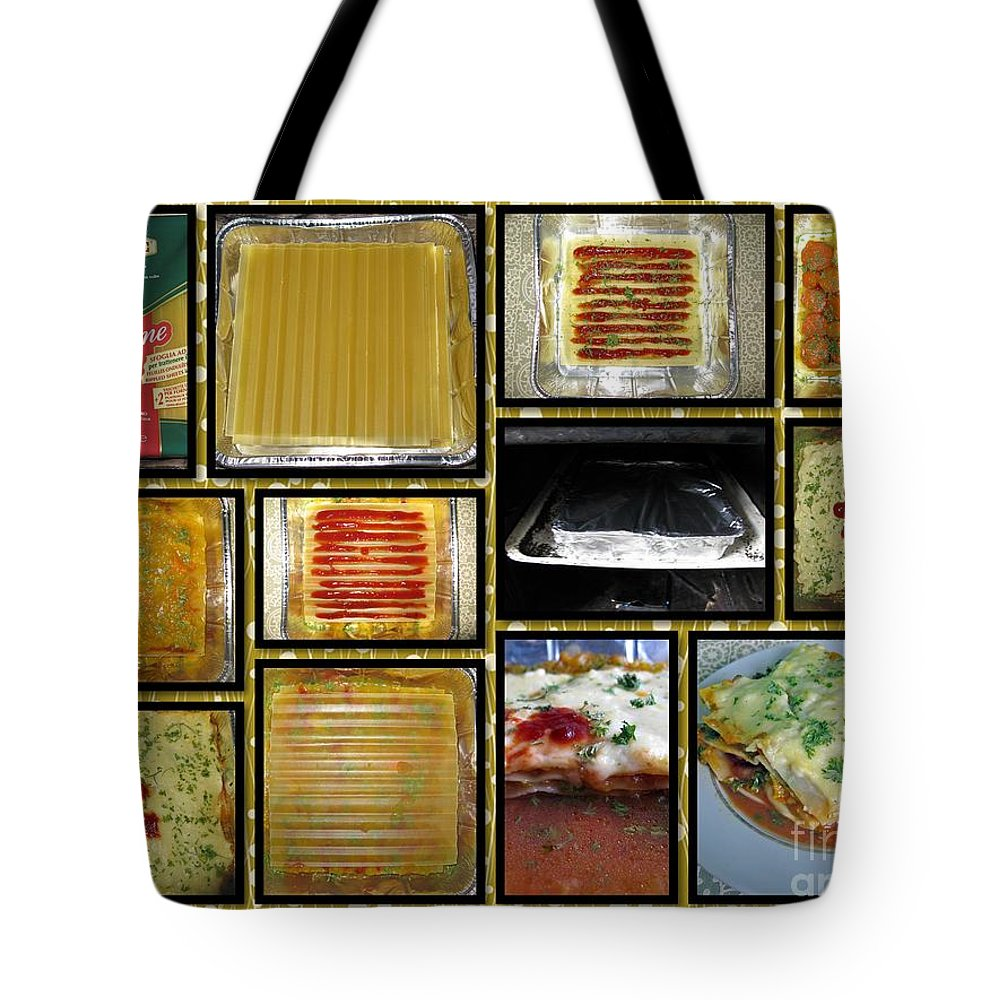 Food Tote Bag featuring the photograph How To Make Your Own Vegan Lasagne by Ausra Huntington nee Paulauskaite