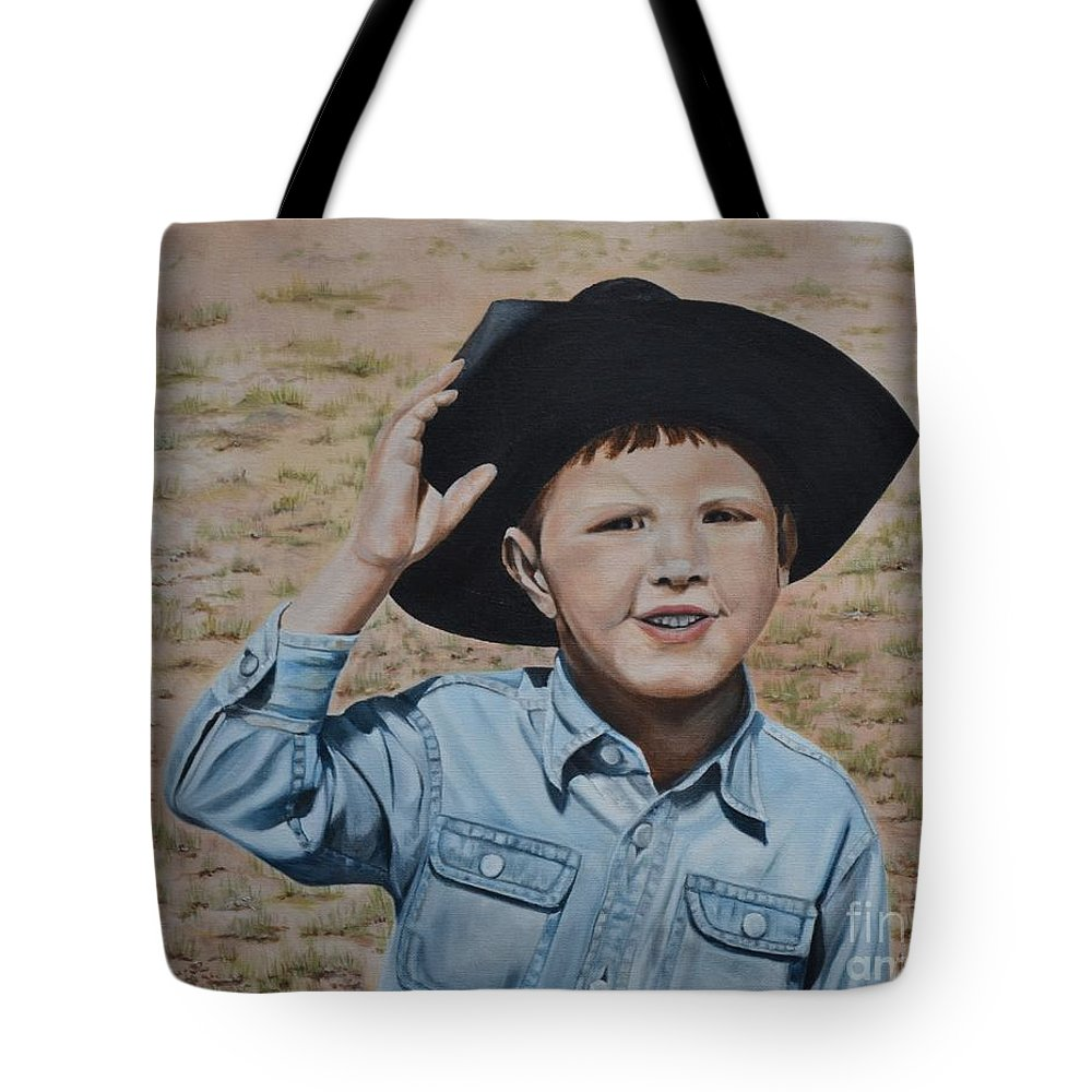 Usa Tote Bag featuring the painting Howdy Ma'am by Mary Rogers