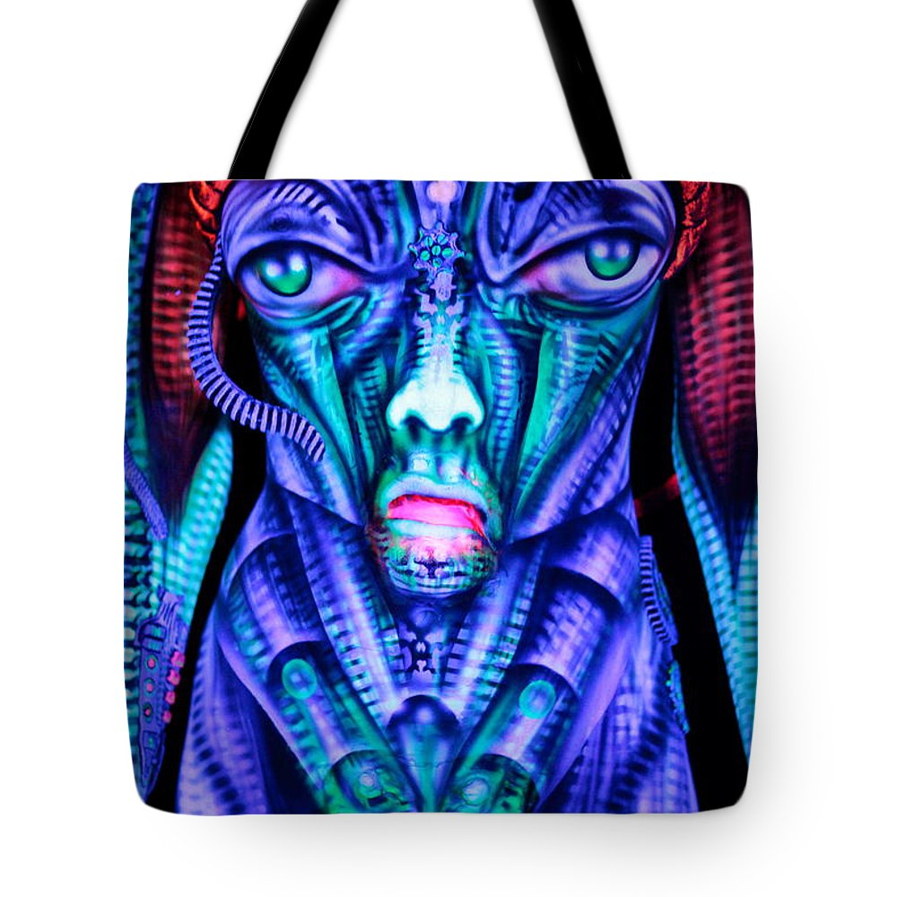 Poster Tote Bag featuring the photograph H.r. Giger Inspired D by Alex Hansen - Julian Bartram - Cully Firmin