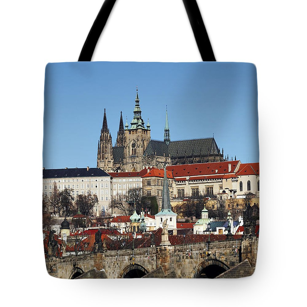 Rare Tote Bag featuring the photograph Hradcany - Prague Castle by Michal Boubin