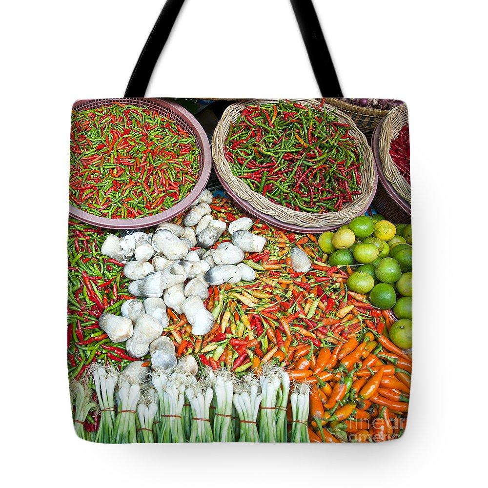 Chilli Tote Bag featuring the photograph Hua Hin Market 03 by Antony McAulay