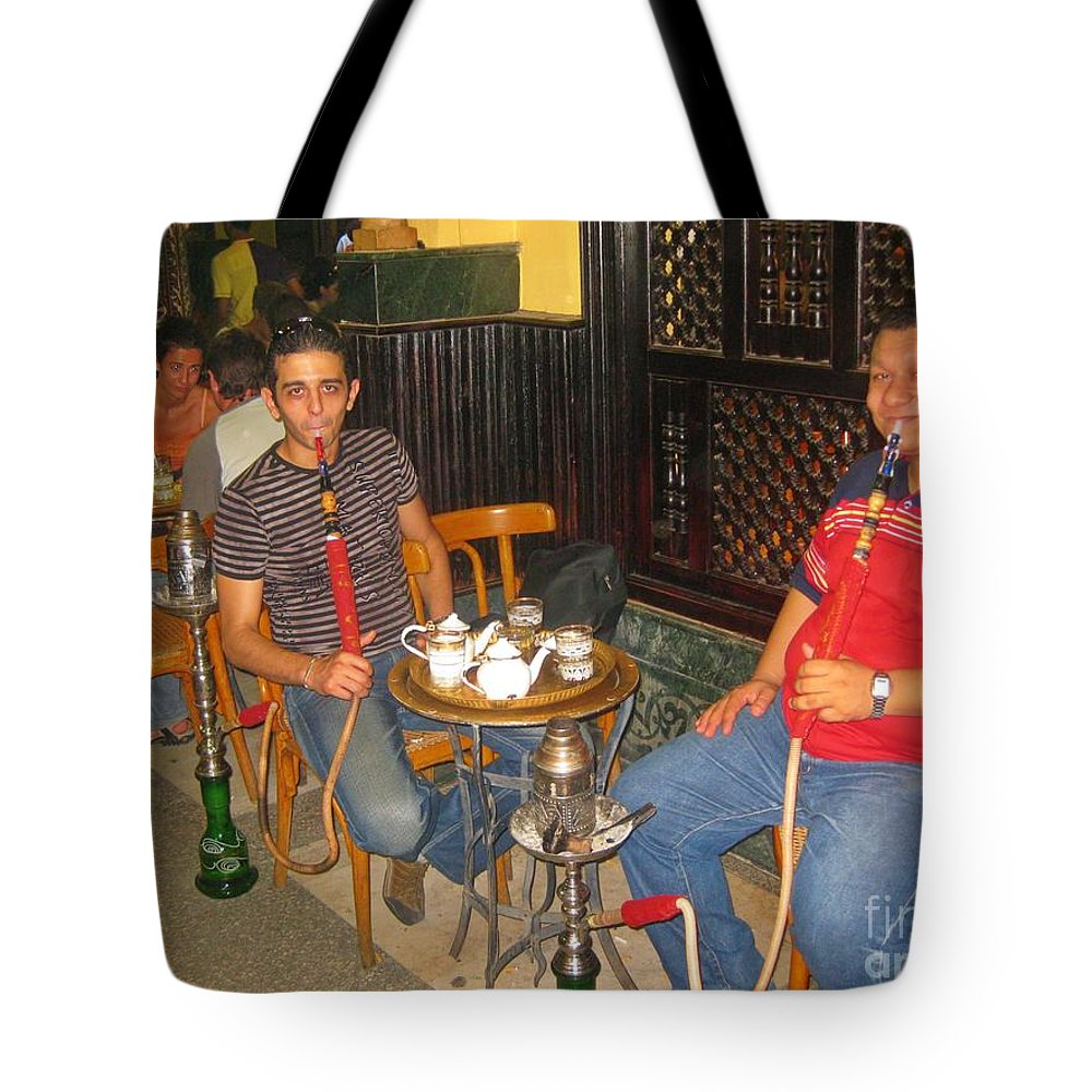 Hubbly Bubbly Smokers In Cairo Egypt Tote Bag For Sale By John Malone